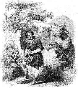 L'homme et la couleuvre de la Fontaine