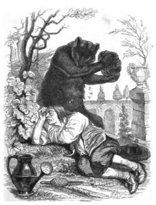 L'ours et l'amateur des jardins de la Fontaine