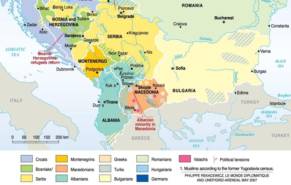 populations des balkans