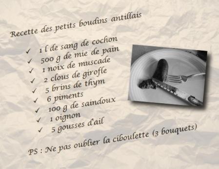 recette boudins antillais