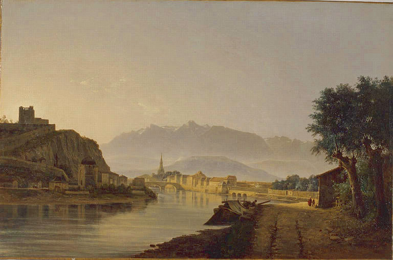 Vue de Grenoble, prise de la Graille, Jean Achard